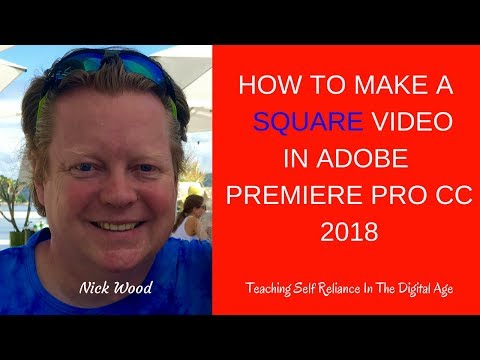 How To Make A Square Video Using Premiere Pro CC Get Greater Engagement On Facebook and Instagram