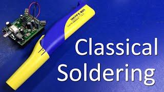 Classical Soldering - Super Stereo Ear Kit (using Hakko FX-901 battery iron) - #0065