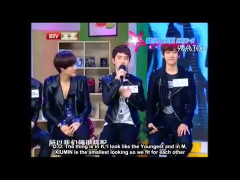 EXO-K D.O CUTE CUTE CUTE moments during Mengniu Interview :D