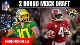Realistic Full 2 Round Mock Draft! Colts Find A QB?! NFL Draft Talk PT.1