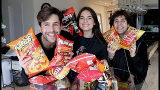 SPICY CHIP TASTE TEST ft DAVID DOBRIK AND NATALIE!!