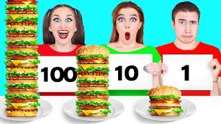 100 NAHRUNG SCHICHTEN CHALLENGE #2 von Multi DO Challenge