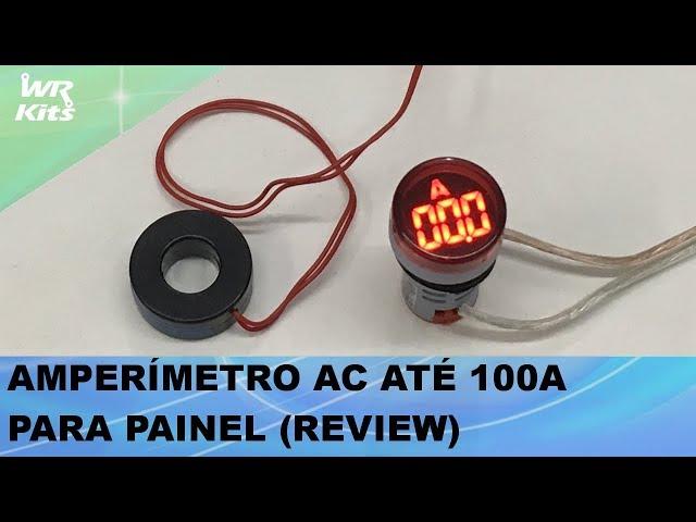 AMPERÍMETRO AC PARA PAINEL ATÉ 100A! REVIEW