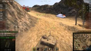 World of Tanks T25AT Нагиб стоком