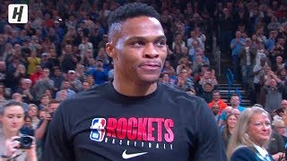Russell Westbrook Returns to Oklahoma City, Full Introduction | January 9, 2020