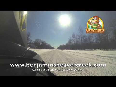 Northern Michigan Snowmobile Adventure, Sick Trails!