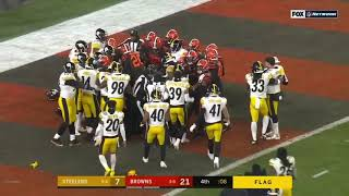 FIGHT Erupts with 8 Seconds Remaining on TNF || Browns vs Steelers ᴴᴰ