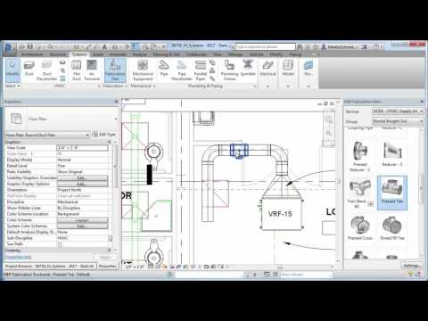 Revit 2017 - What's New Fabrication Part Modeling Improvements