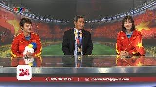 HLV Mai Đức Chung và 2 cầu thủ ĐT nữ Việt Nam nói về tấm HCV SEA Games 30 | VTV24