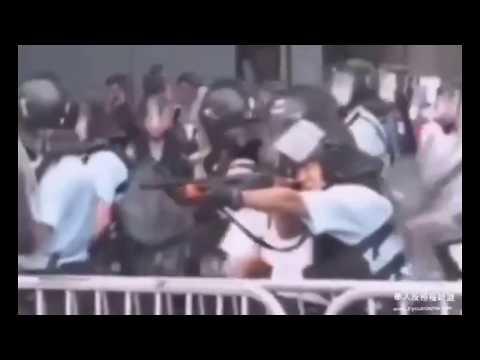 视频:香港警方向民众开枪了!港共政府执意要重演六四!