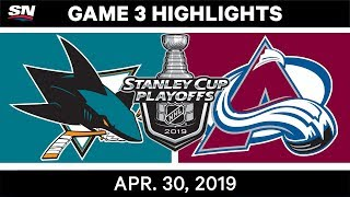 NHL Highlights | Sharks vs. Avalanche, Game 3 - April 30, 2019