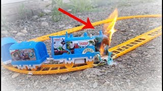 THOMAS THE TRAIN CATCHES FIRE