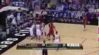 #16 Iowa State vs #10 Kansas (3/14/2014) Big 12 Championship Semifinal
