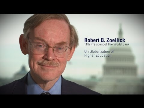 "Former World Bank President Robert Zoellick discusses his participation in ""The Globalization of Higher Education"" Conference."