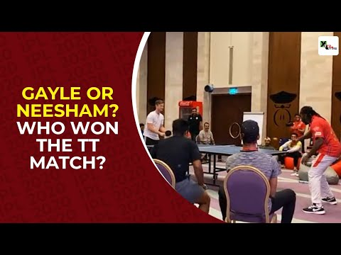 IPL 2020: Chris Gayle face Jimme Neesham in a friendly TT match. Who had the last laugh?