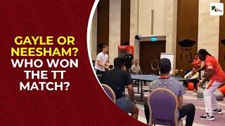 IPL 2020: Chris Gayle face Jimme Neesham in a friendly TT ..