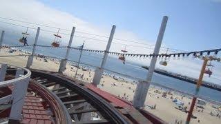Giant Dipper Front Seat on-ride HD POV Santa Cruz Beach Boardwalk
