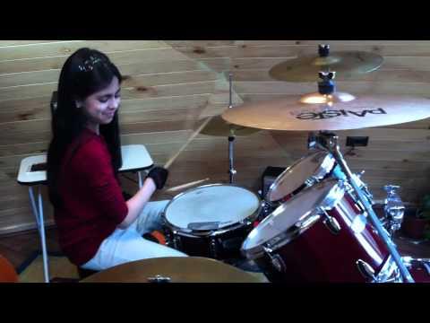 justin bieber - never say never en bateria (Alejandra Ruiz)