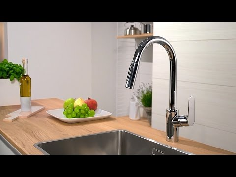 Hansgrohe Focus Single Lever Kitchen Mixer with Pull-Out Spray