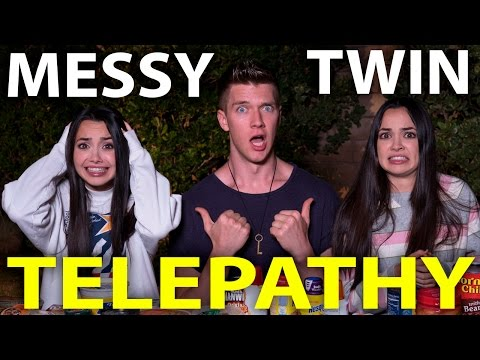 MESSY TWIN TELEPATHY CHALLENGE w/the Merrell Twins | Collins Key