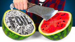 How To Make A SHARP KNIFE From Kitchen Foil