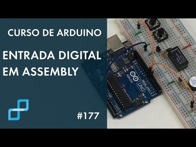BOTÃO COM LED EM ASSEMBLY PARA AVR | Curso de Arduino #177