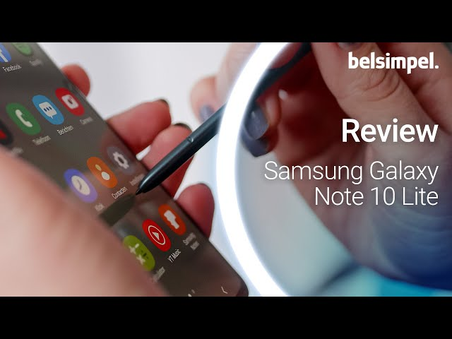 Belsimpel-productvideo voor de Samsung Galaxy Note 10 Lite N770 Black