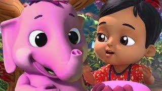 Ek Mota Hathi Sheher Ko Chala   Rhymes in Hindi   एक मोटा हाथी   Hindi Rhymes   Baby Songs Hindi
