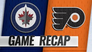 Konecny, Hart pace Flyers past Jets, 3-1