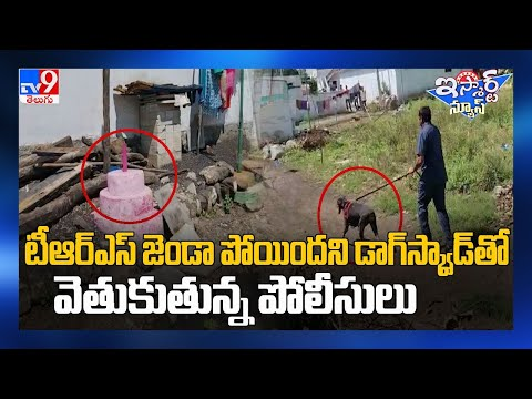 Police conduct dog squad searches to find stolen TRS flag