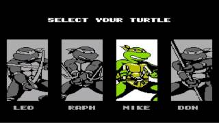 TMNT 3 The Manhattan Project cheat codes for NES stage select, difficulty, extra lives, sound test.