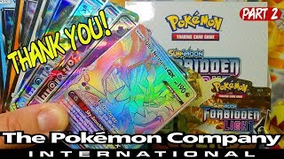 CHECK OUT THIS FORBIDDEN LIGHT BOOSTER BOX THE POKEMON COMPANY INTERNATIONAL SENT ME! PART 2
