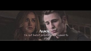 Steve Rogers & Carol Danvers || I'm not bullet proof when it comes to you