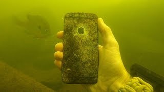 I Found an iPhone, iPod and a Selfie Stick Underwater in the River! (Scuba Diving)