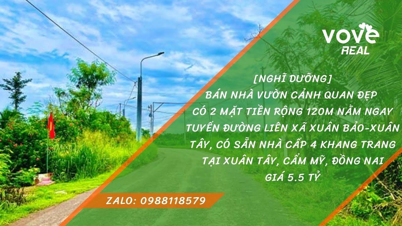 D060-Bán nhà vườn 4403m2 mặt tiền đường liên xã Xuân Bảo - Xuân Tây, giá 5.5 tỷ tại Cẩm Mỹ Đồng Nai video