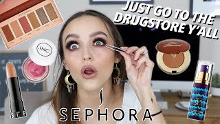 FULL FACE OF THE CHEAPEST MAKEUP AT SEPHORA $$$