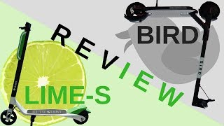 Bird & Lime  Electric Scooters Review