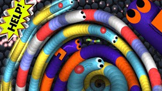 Slither.io - World Biggest Worm Party Ever | Slitherio Epic Moments