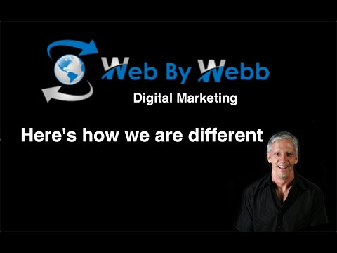 This is how Web By Webb Digital Marketing differs