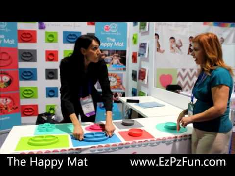 Love these colorful, fun and safe silicone mats and plates from EzPz