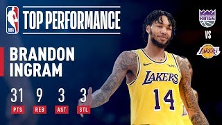Brandon Ingram Goes SHOWTIME vs The Kings | 2018 NBA Preseason