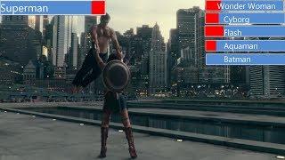 Superman vs Justice League with Healthbars | Justice League Movie (2018)