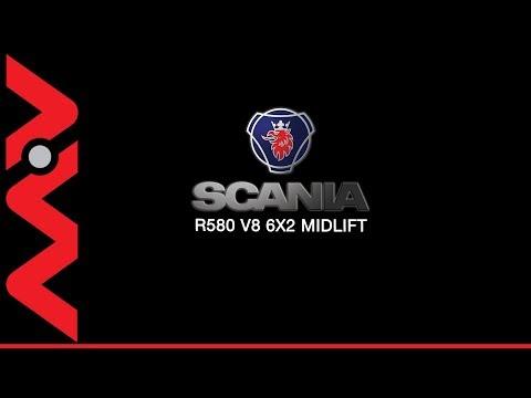 2006 SCANIA R580 V8 6x2 Midlift Black