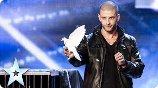 Darcy Oake's jaw-dropping dove illusions | Britain's Got Talent 2014