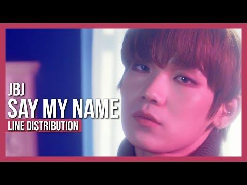 JBJ - Say My Name Line Distribution (Color Coded)