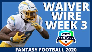 2020 Fantasy Football - Week 3 Waiver Wire Adds - Fantasy Football Advice