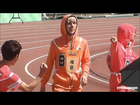 130903 ISAC Recording - EXO-K SEHUN : Men's 100 metres race