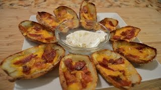 Loaded Potato Skins - How to make Loaded Potato Skins (Football Food - Appetizers)