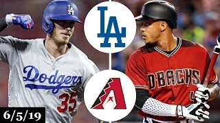 Los Angeles Dodgers vs Arizona Diamondbacks - Full Game Highlights | June 5, 2019 | 2019 MLB Season