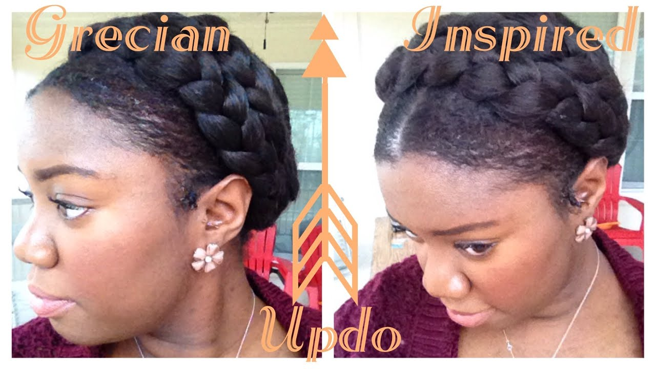 Greek Goddess Crown Braid Tutorial Protective Style